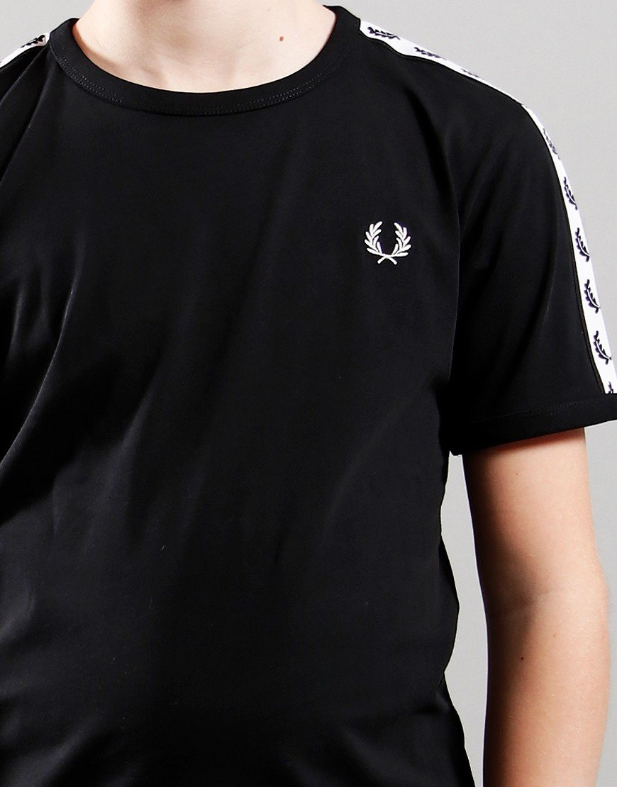 Fred Perry Kids Taped Ring T-Shirt Black