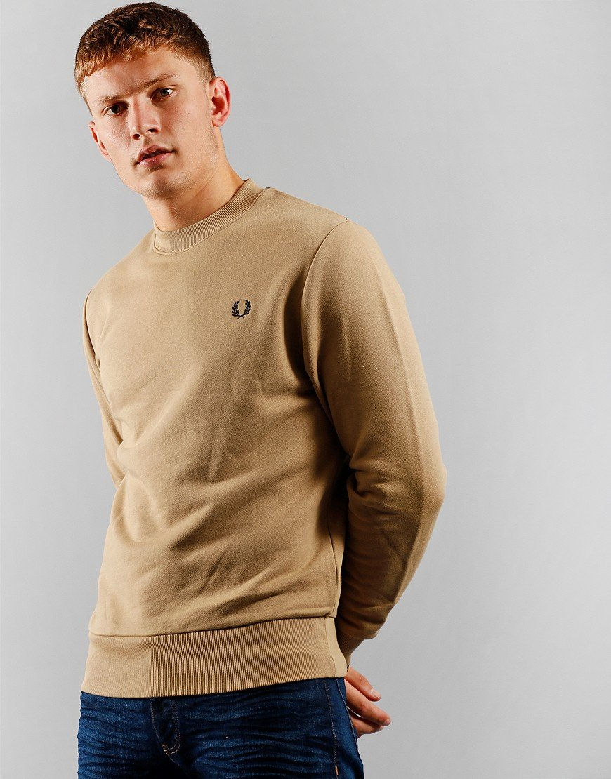 Fred Perry Crew Sweat Shirt Warm Stone