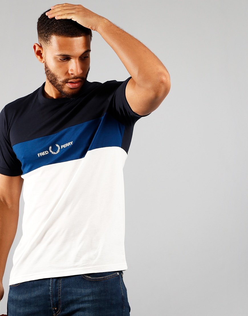 Fred Perry Graphic Emblem T-Shirt Navy