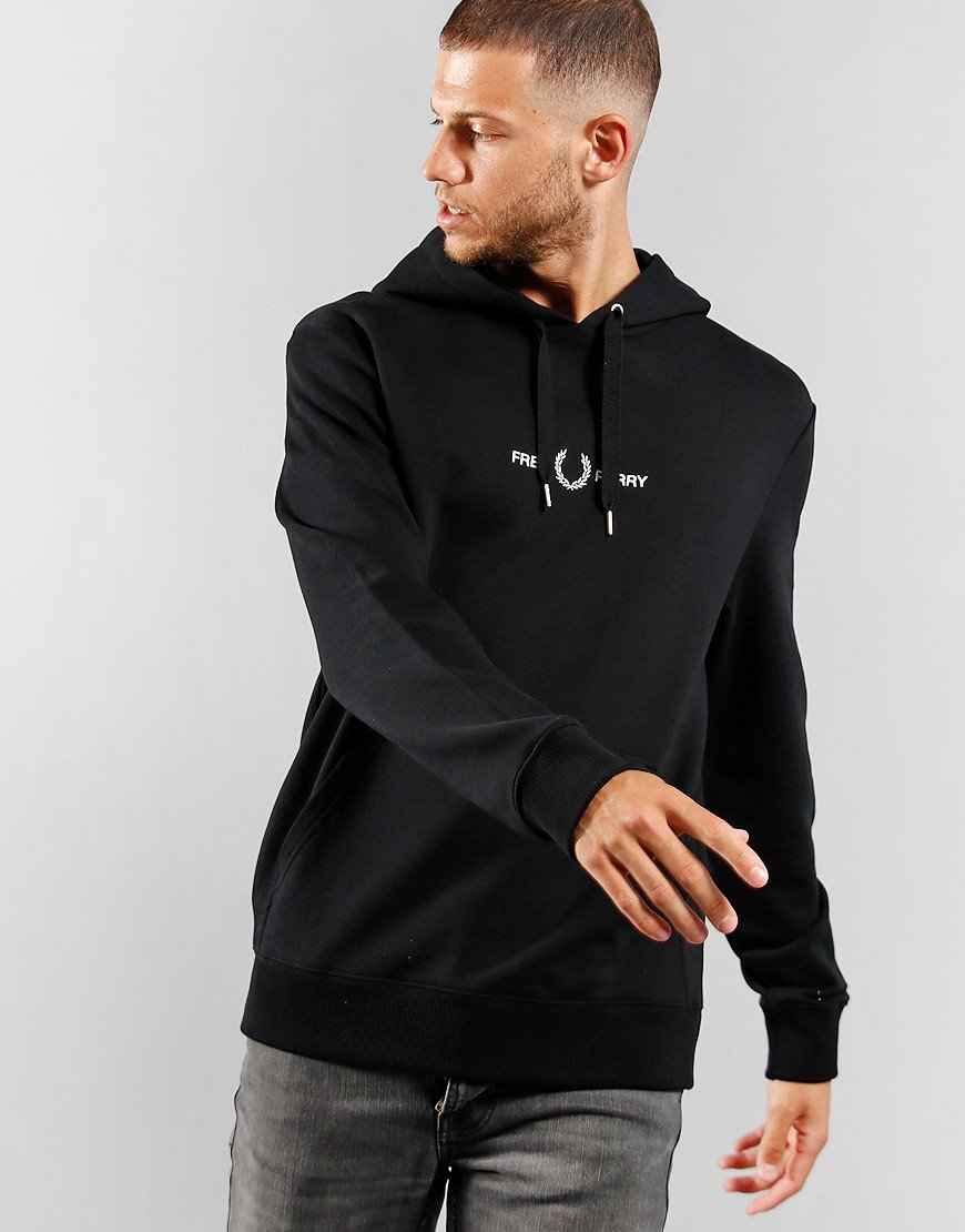 Fred Perry Graphic Hoody Black