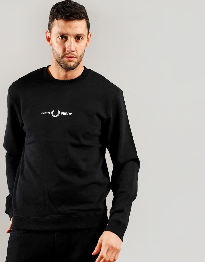 Fred Perry Graphic Sweat Black