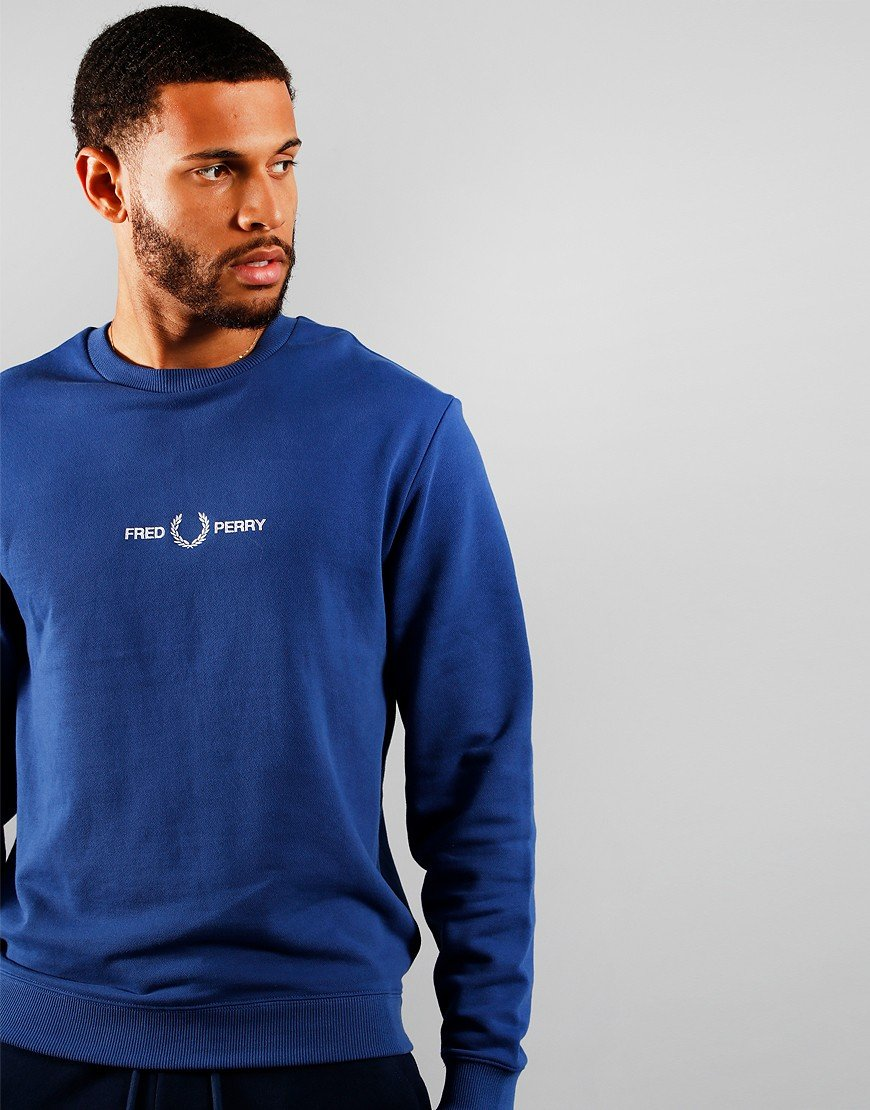 Fred Perry Graphic Sweat Nautical Blue