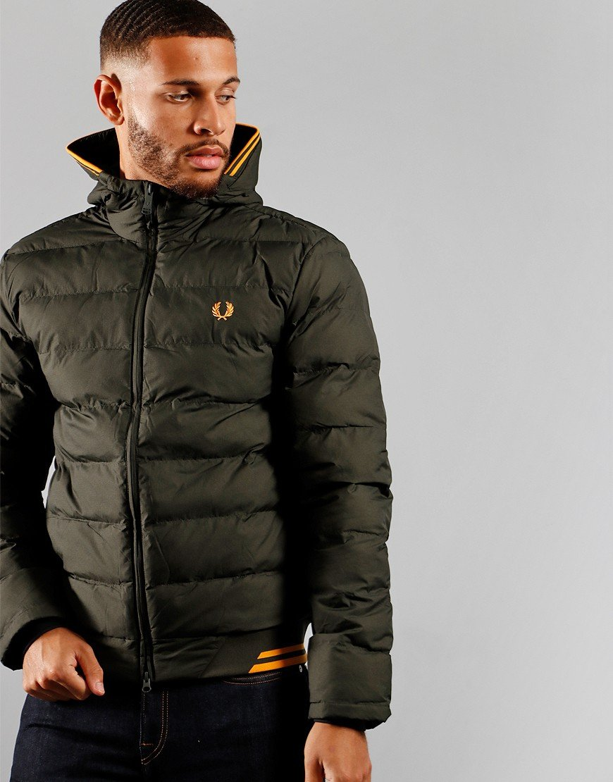 Fred Perry Hooded Insulated Jacket Hunting Green