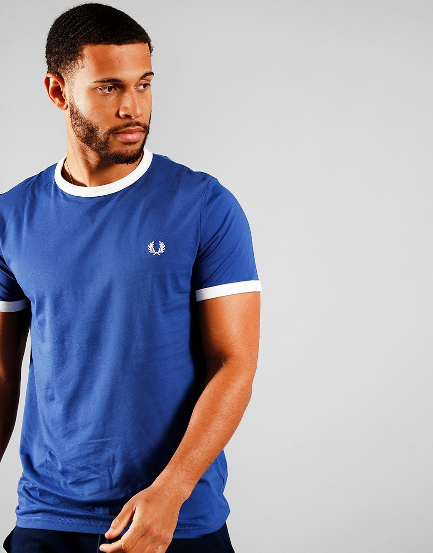 Fred Perry Ringer T-Shirt Nautical Blue