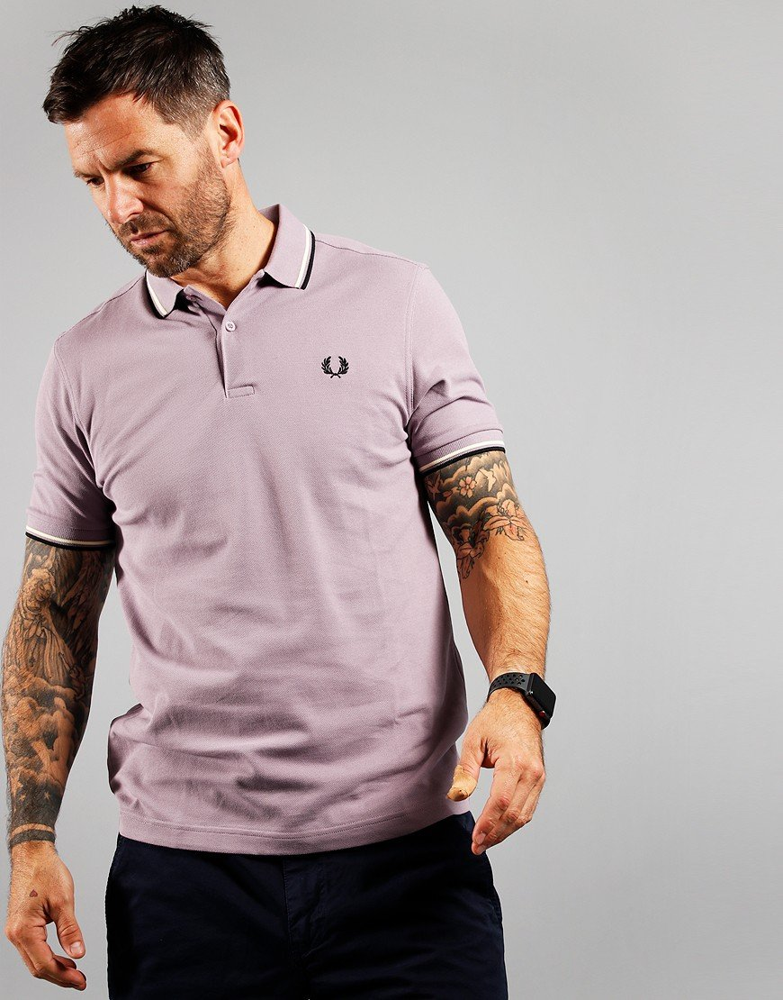 Fred Perry Twin Tipped Polo Shirt Lavendash