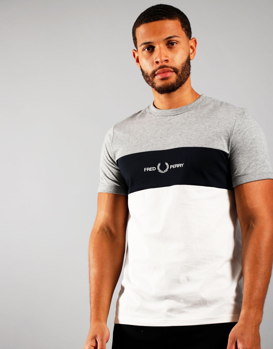 Fred Perry Graphic Emblem T-Shirt Steel Marl