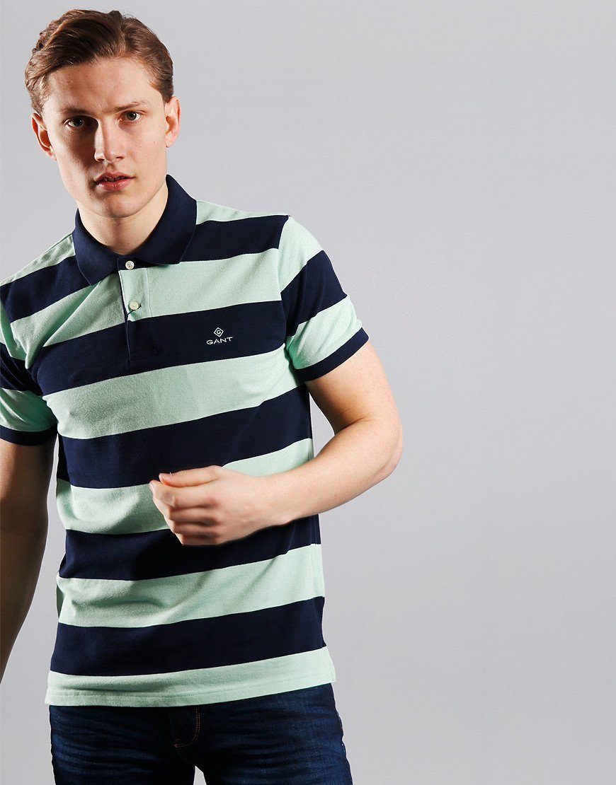 GANT Barstripe Rugger Polo Shirt Breeze