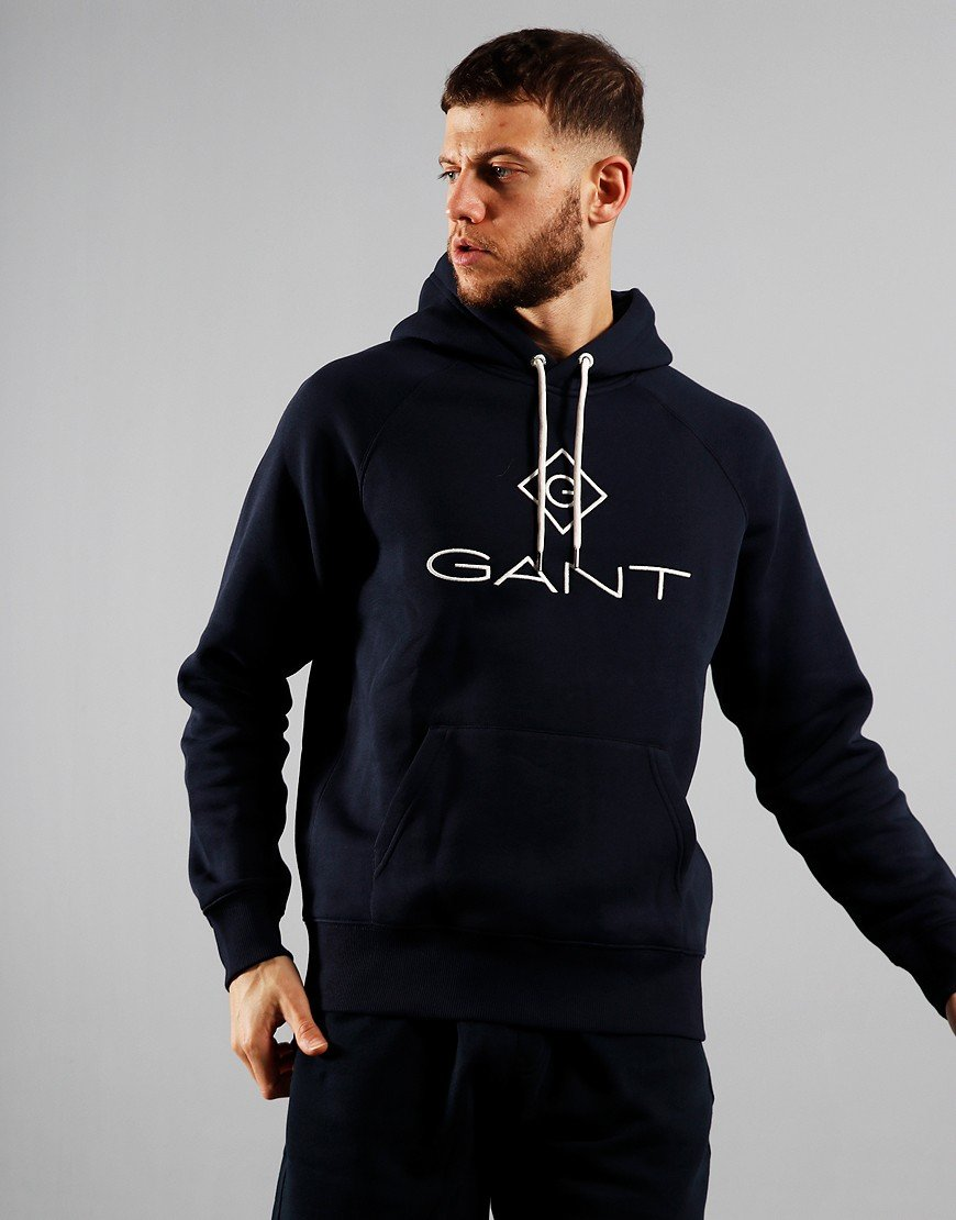 GANT Lock Up Hoodie Evening Blue