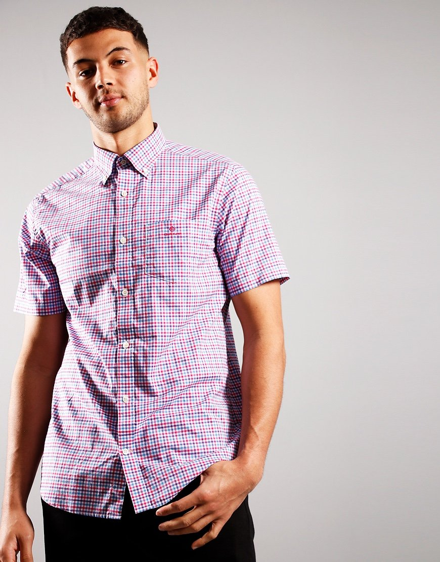 Gant 3 Colour Gingham Shirt Cabaret Pink