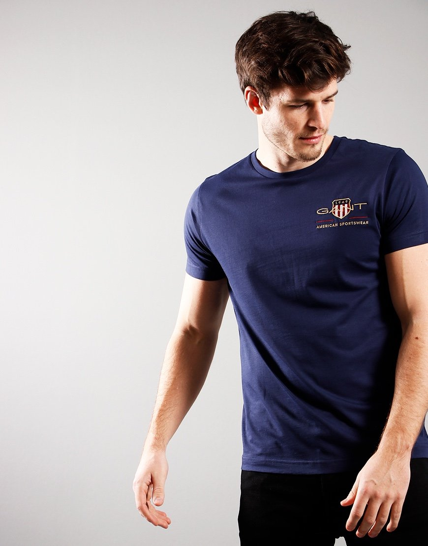 GANT Archive Shield Tee Evening Blue