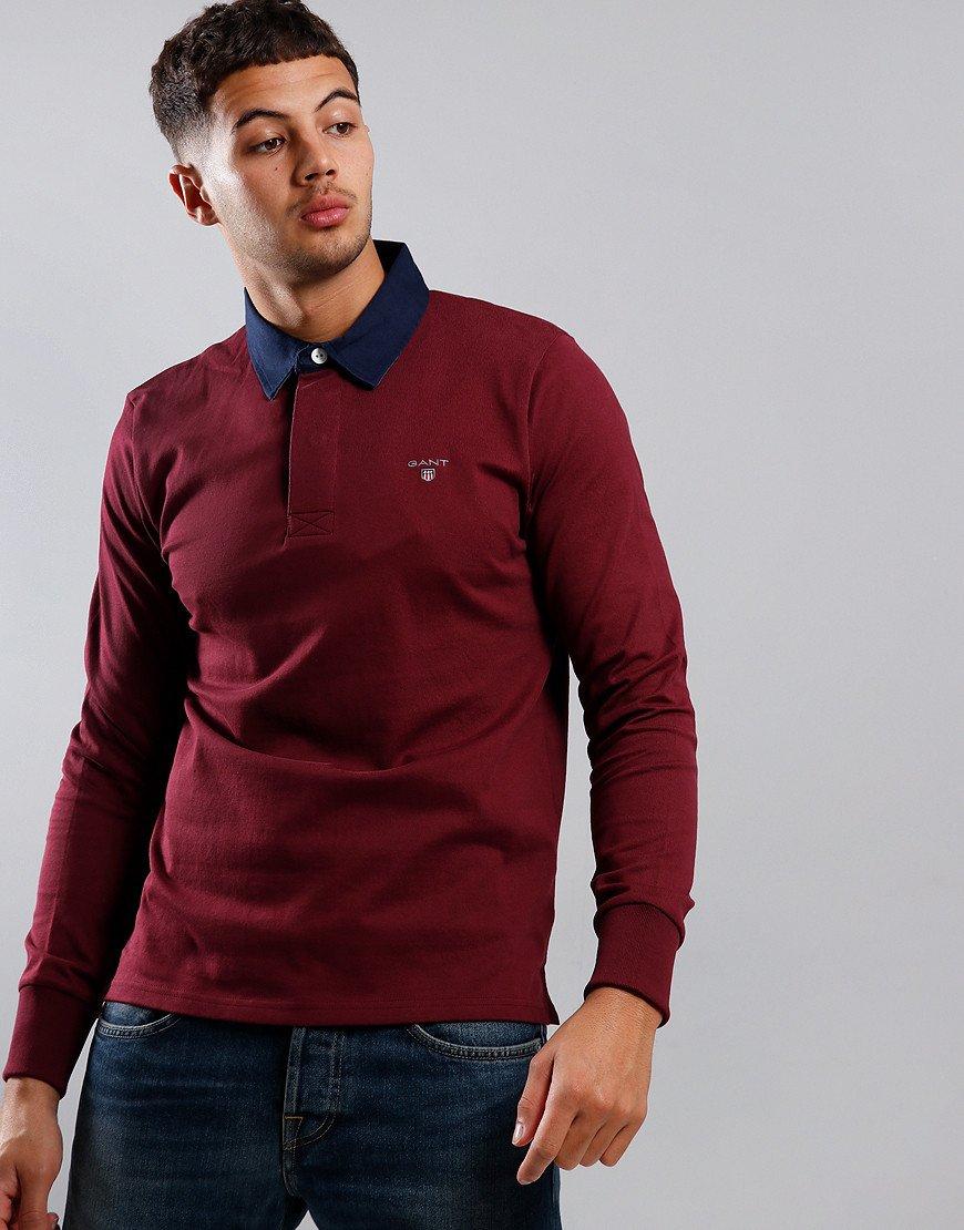 GANT Heavy Rugger Polo Shirt Port Red