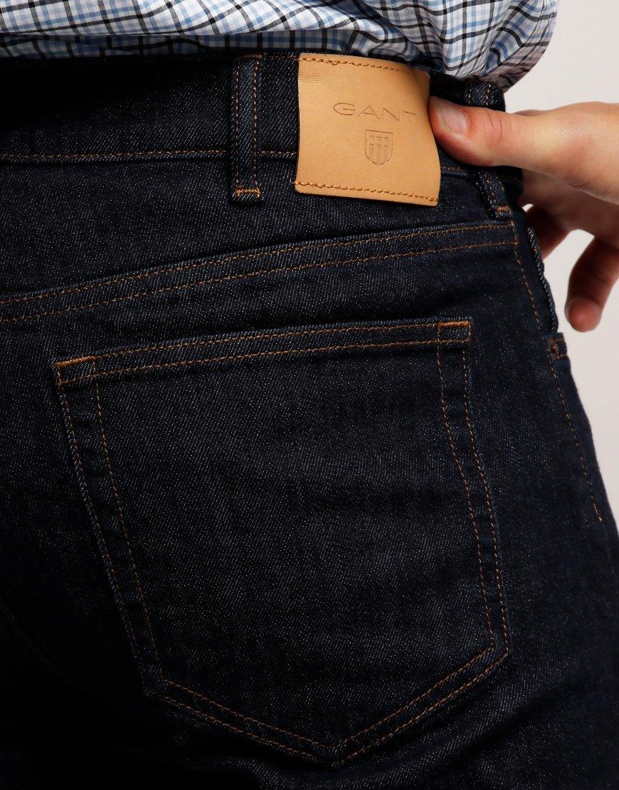 GANT Regular Fit Jeans Dark Blue