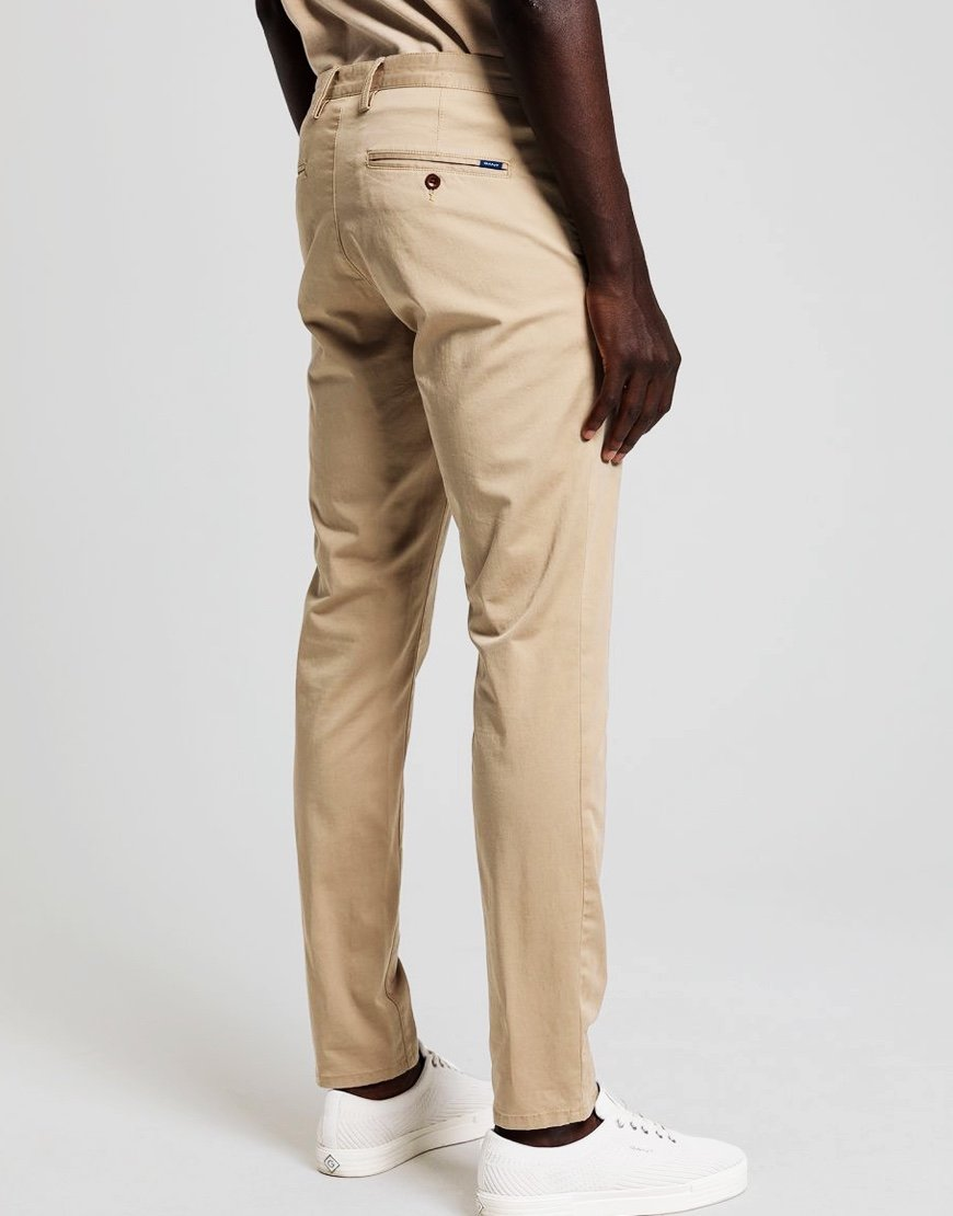 GANT Essential Slim Fit Chino Dark Khaki