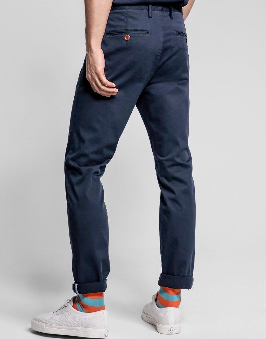 GANT Essential Slim Fit Chino Marine