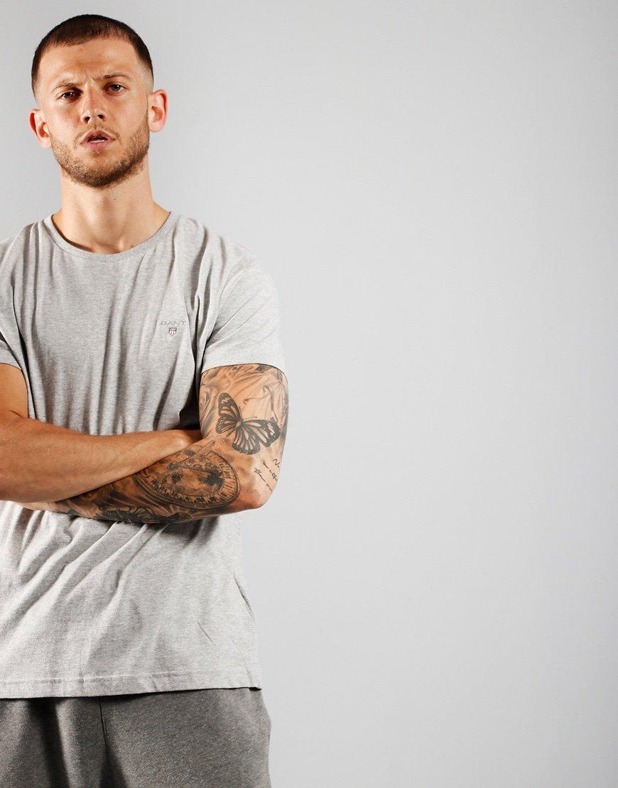 GANT Solid T-Shirt   Light Grey Melange