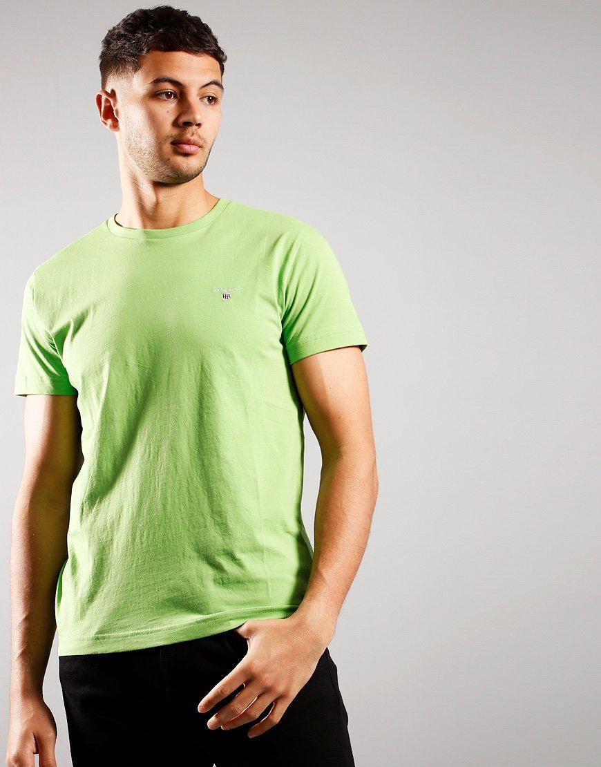 GANT Solid T-Shirt Foliage Green