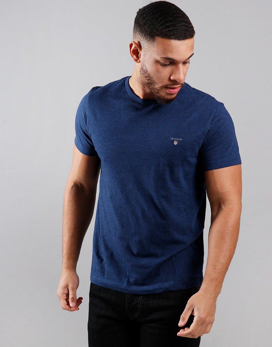 GANT Solid T-Shirt  Marine Melange