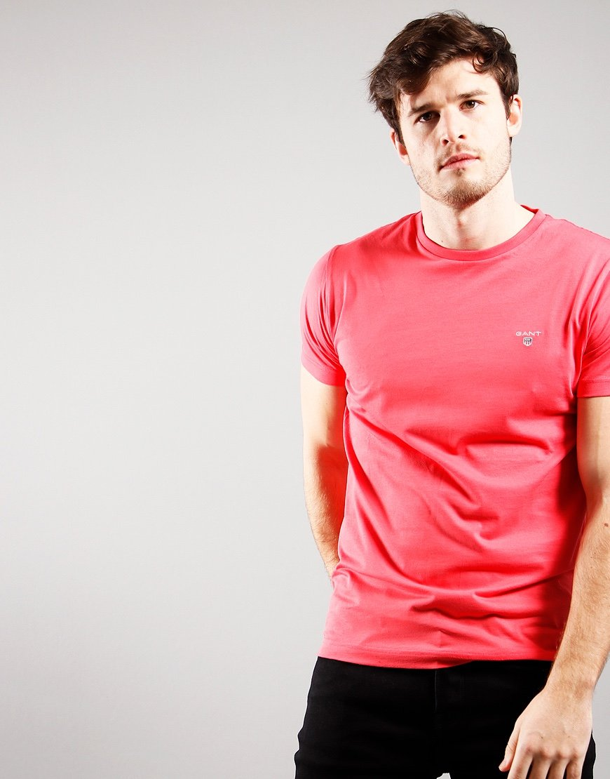 GANT Solid T-Shirt Paradise Pink