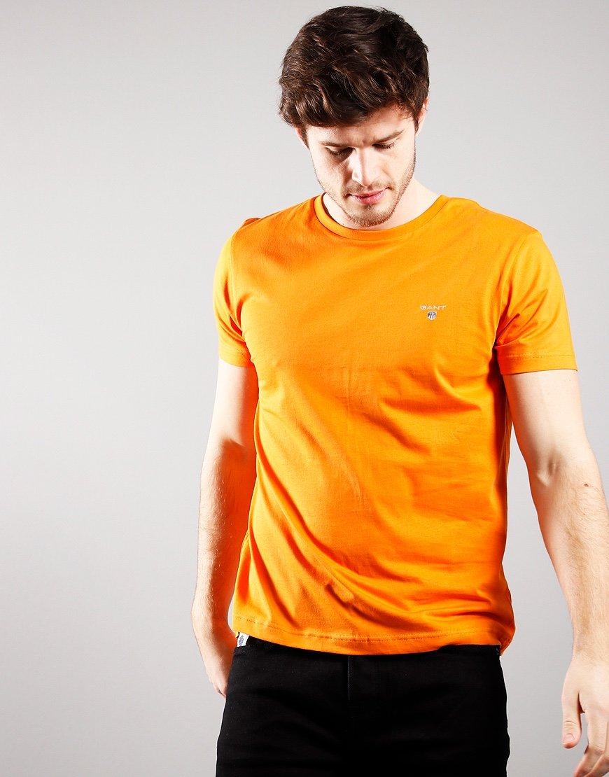 GANT Solid T-Shirt Russet Orange