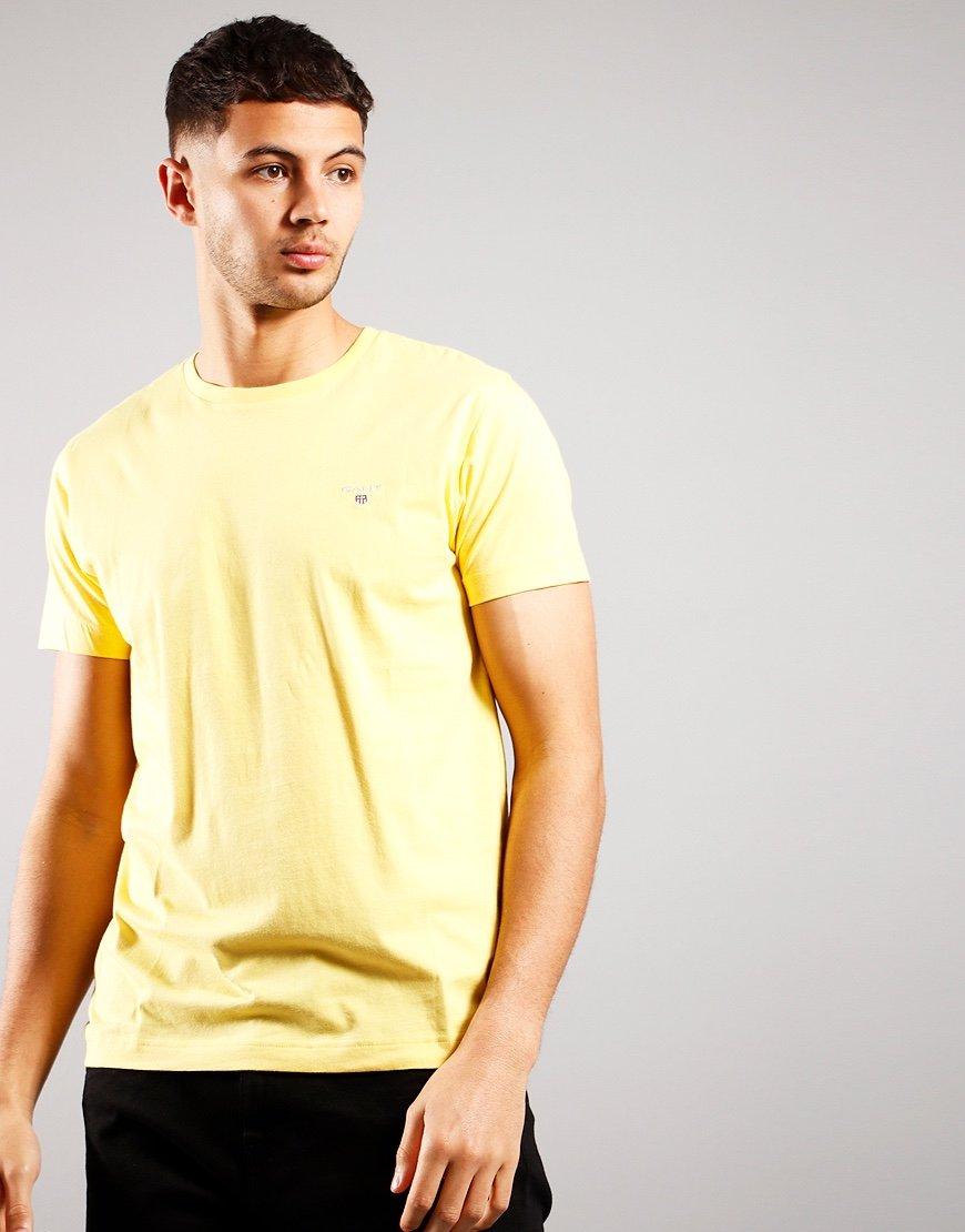 GANT Solid T-Shirt Brimstone Yellow