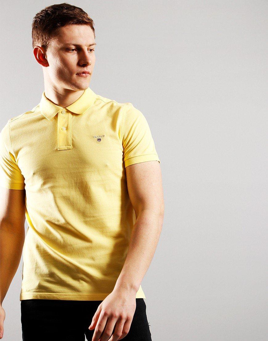 GANT Short Sleeve Pique Polo Brimstone Yellow