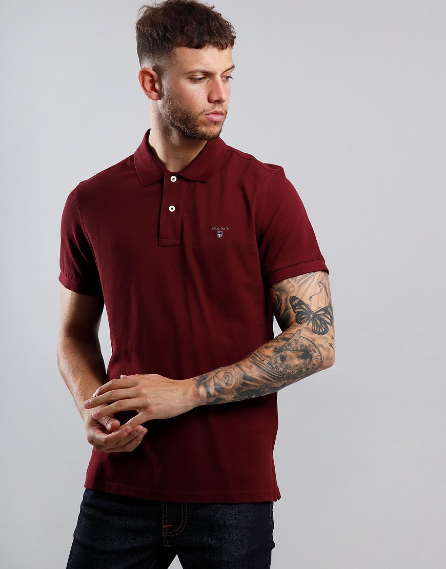GANT Piqué Polo Shirt Port Red