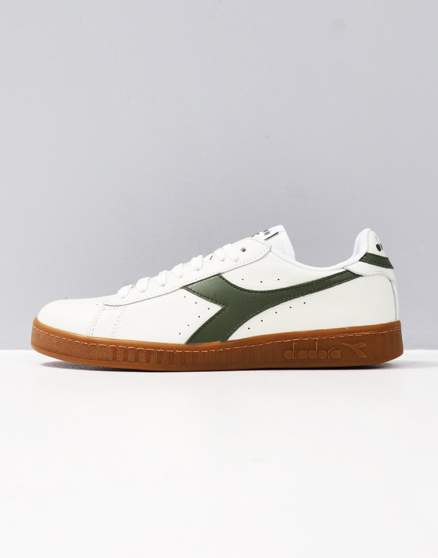 Diadora Game L Low Trainers White/Olivine