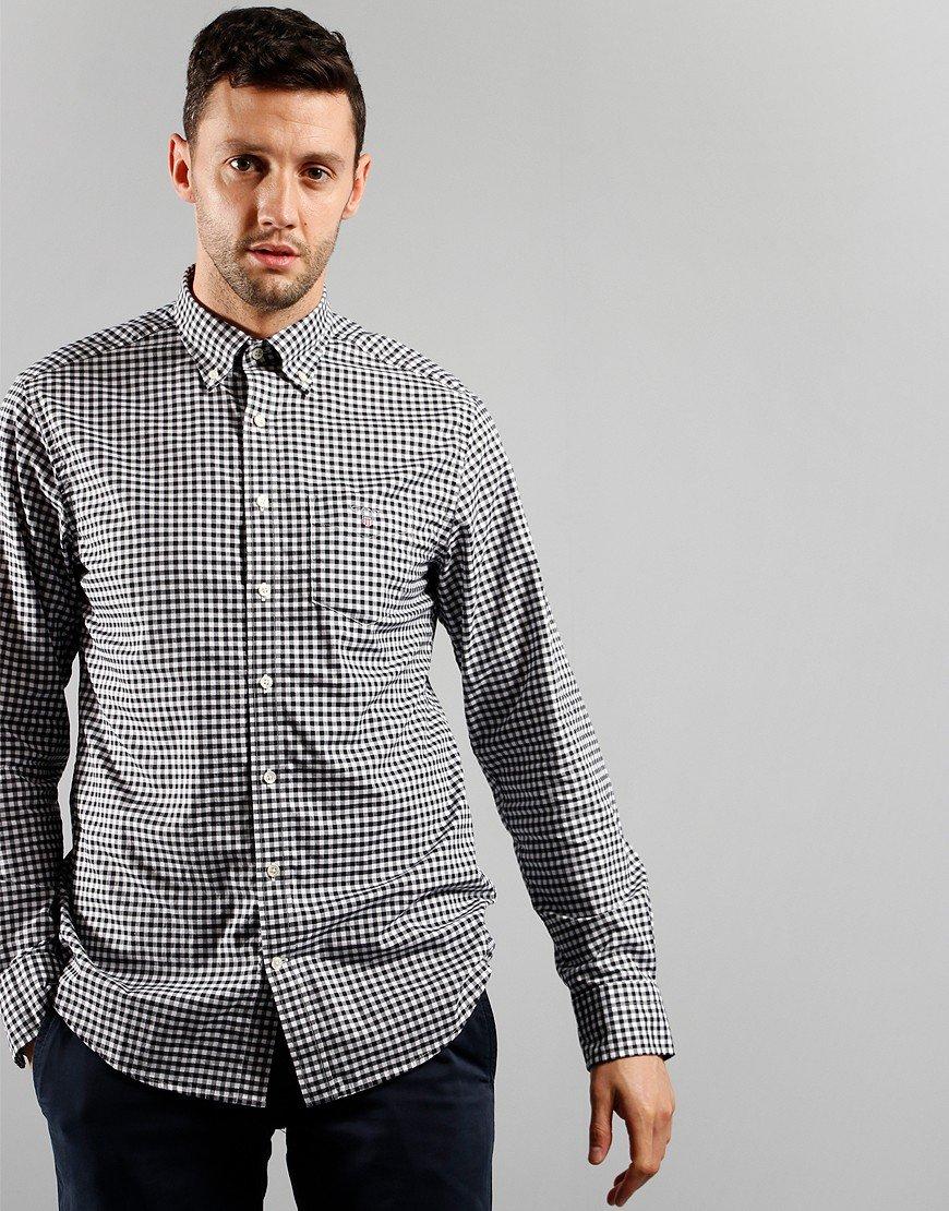 GANT Gingham Long Sleeve Shirt Black