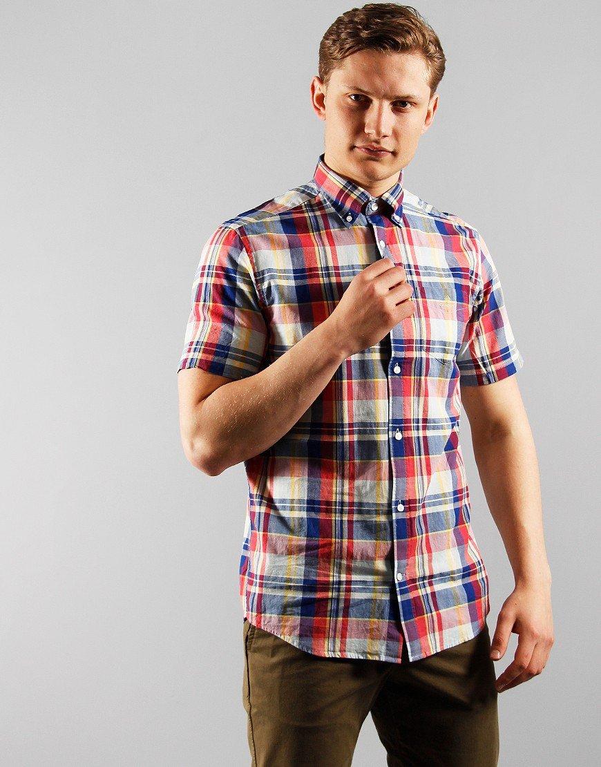 GANT Madras Short Sleeve Shirt Rapture Rose