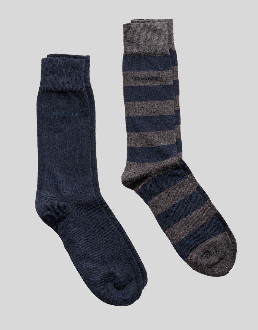 GANT 2 Pack Socks Charcoal/Navy