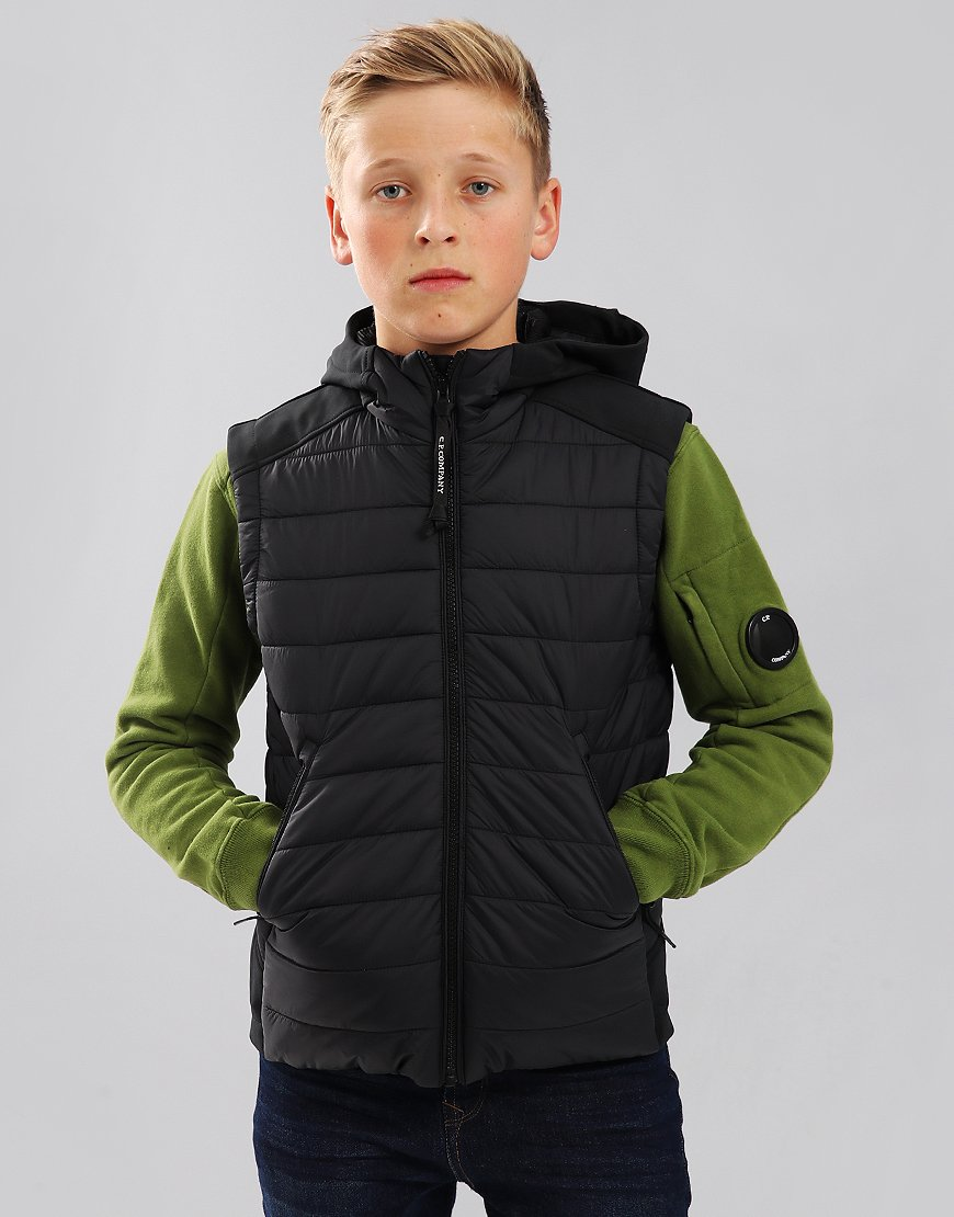 C.P. Company Kids Goggle Gilet Black Coffee