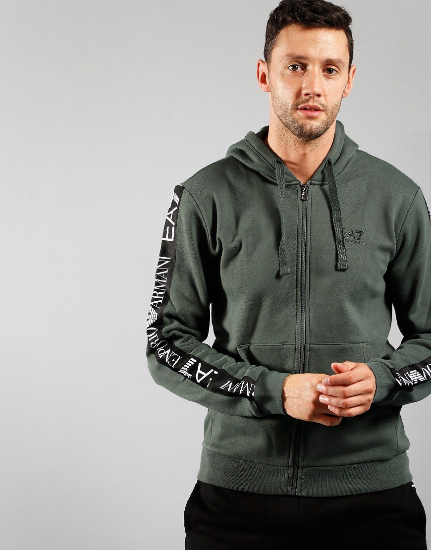 EA7 Arm Logo Full Zip Hoodie Urban Chic