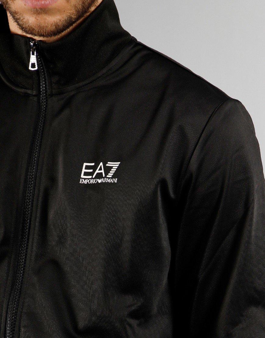 EA7 Poly Tracksuit Black
