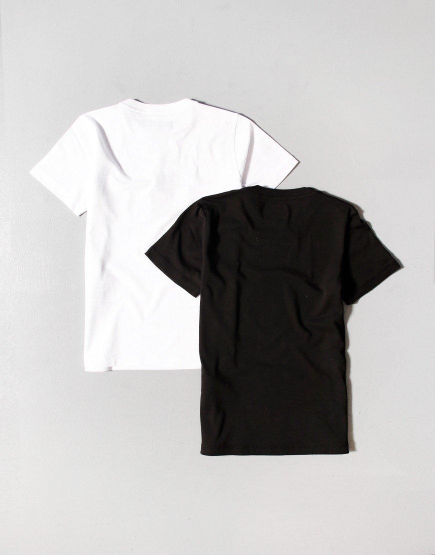 Armani Kids 2 Pack T-Shirts White