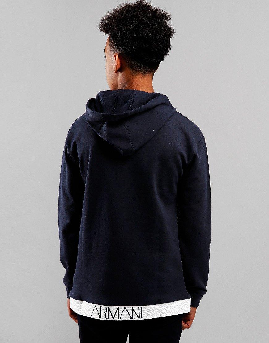Armani Junior Hooded Sweat Navy