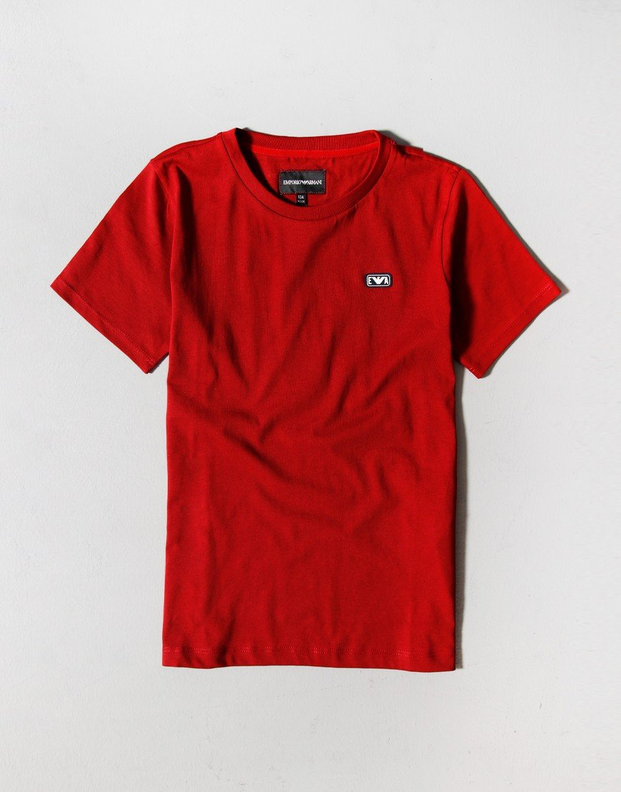 Armani Kids Patch T-Shirt Ruby