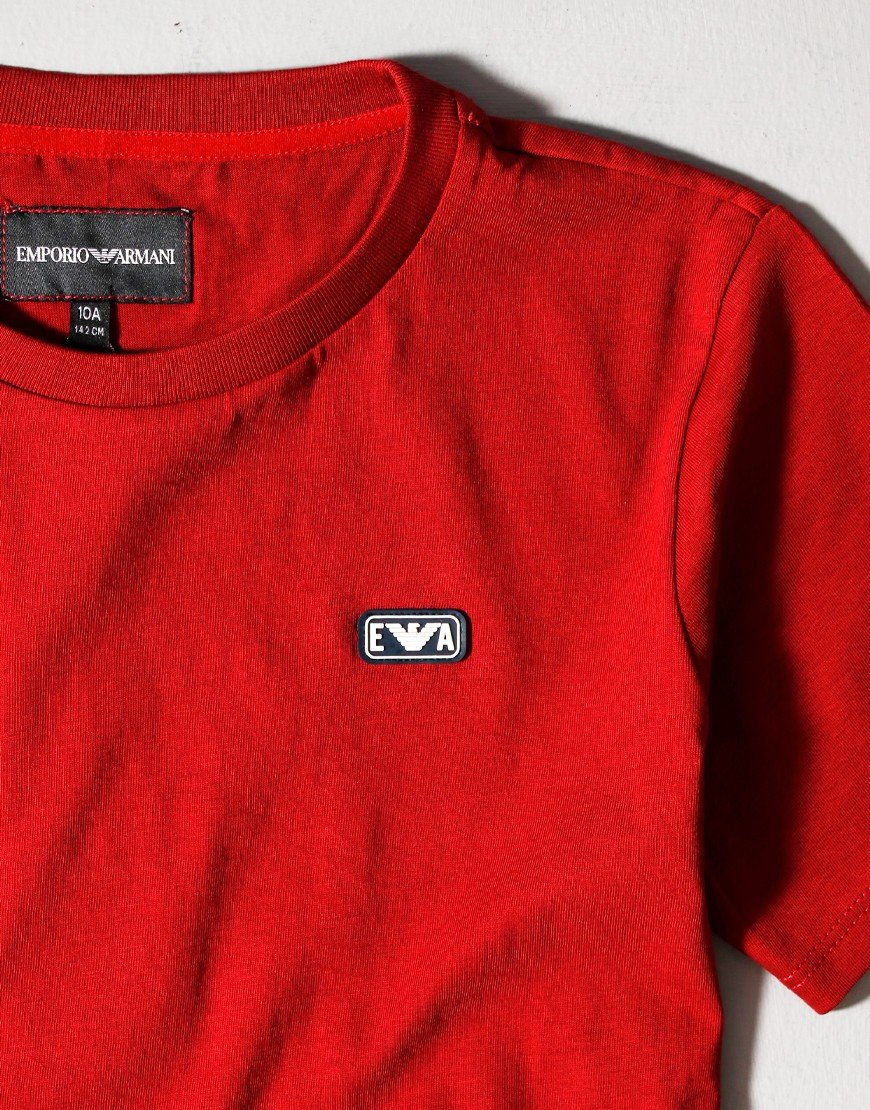 Armani Kids Patch T-Shirt Ruby