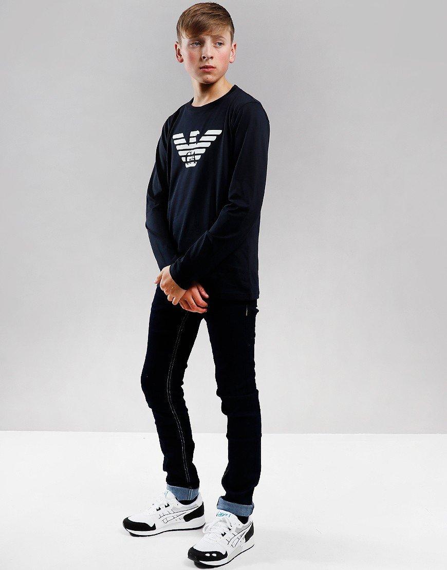 Armani Junior Long Sleeve T-Shirt Dark Blue