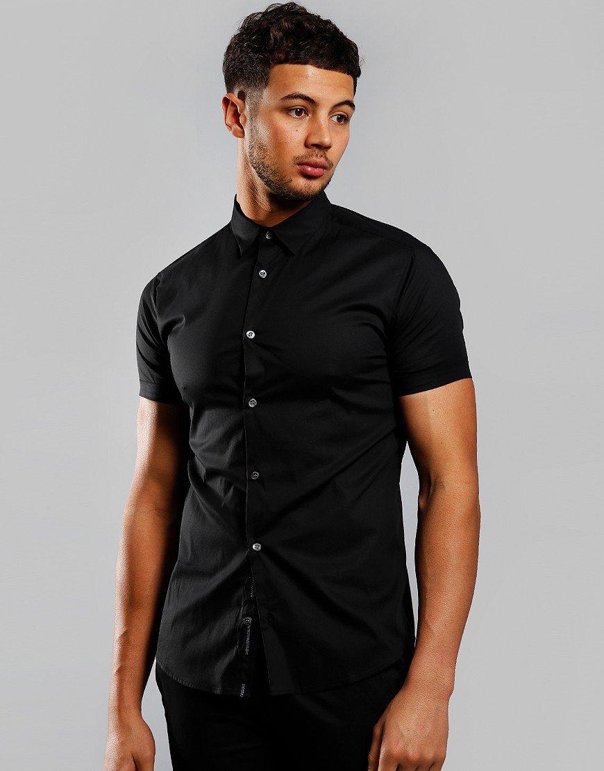 Emporio Armani Woven Shirt Black