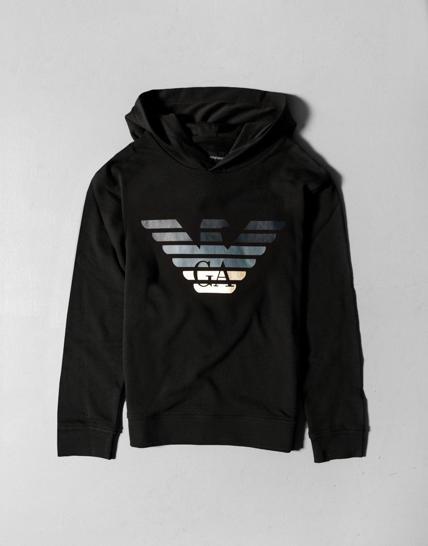Armani Kids Hooded Sweat Black