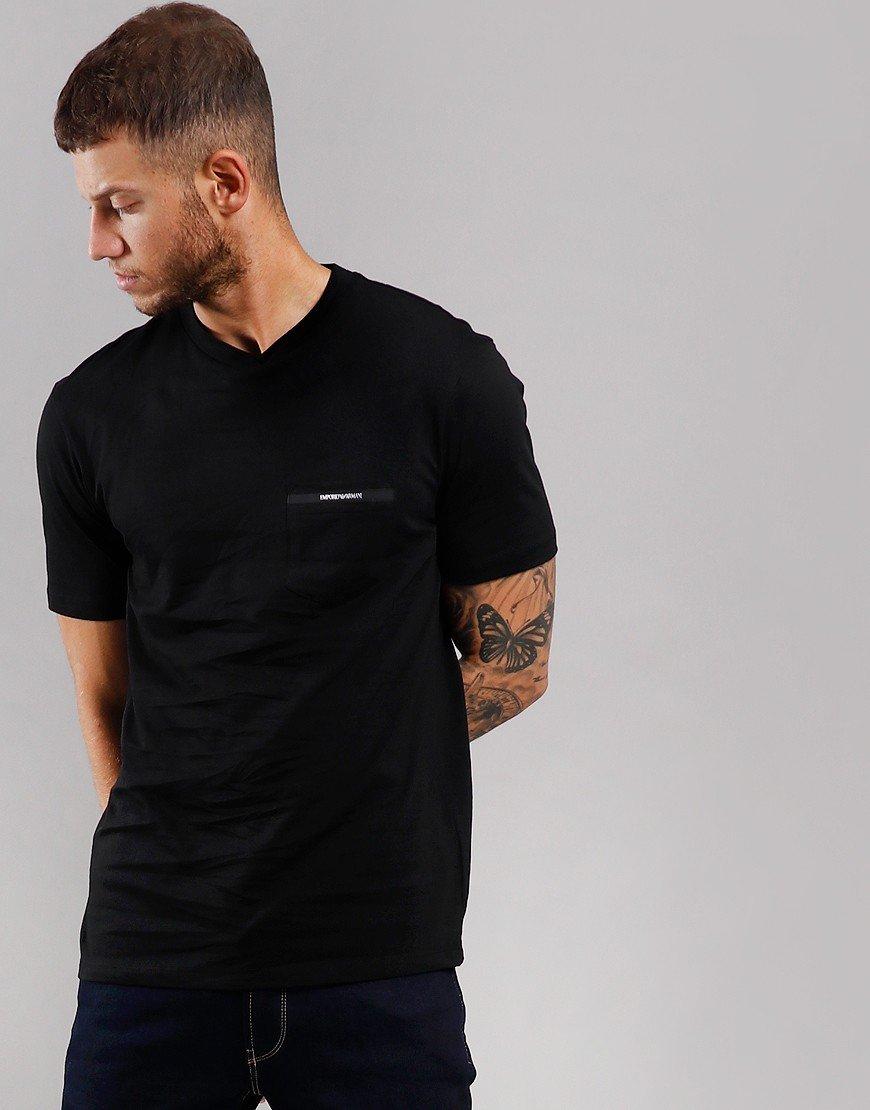 Emporio Armani Tape Pocket T-Shirt Black