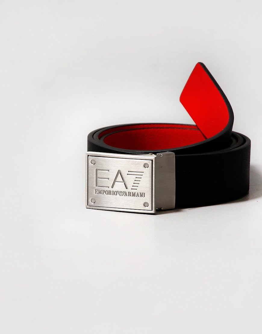 EA7 Emporio Armani Core ID Logo Reversible Belt Black/Racing Red