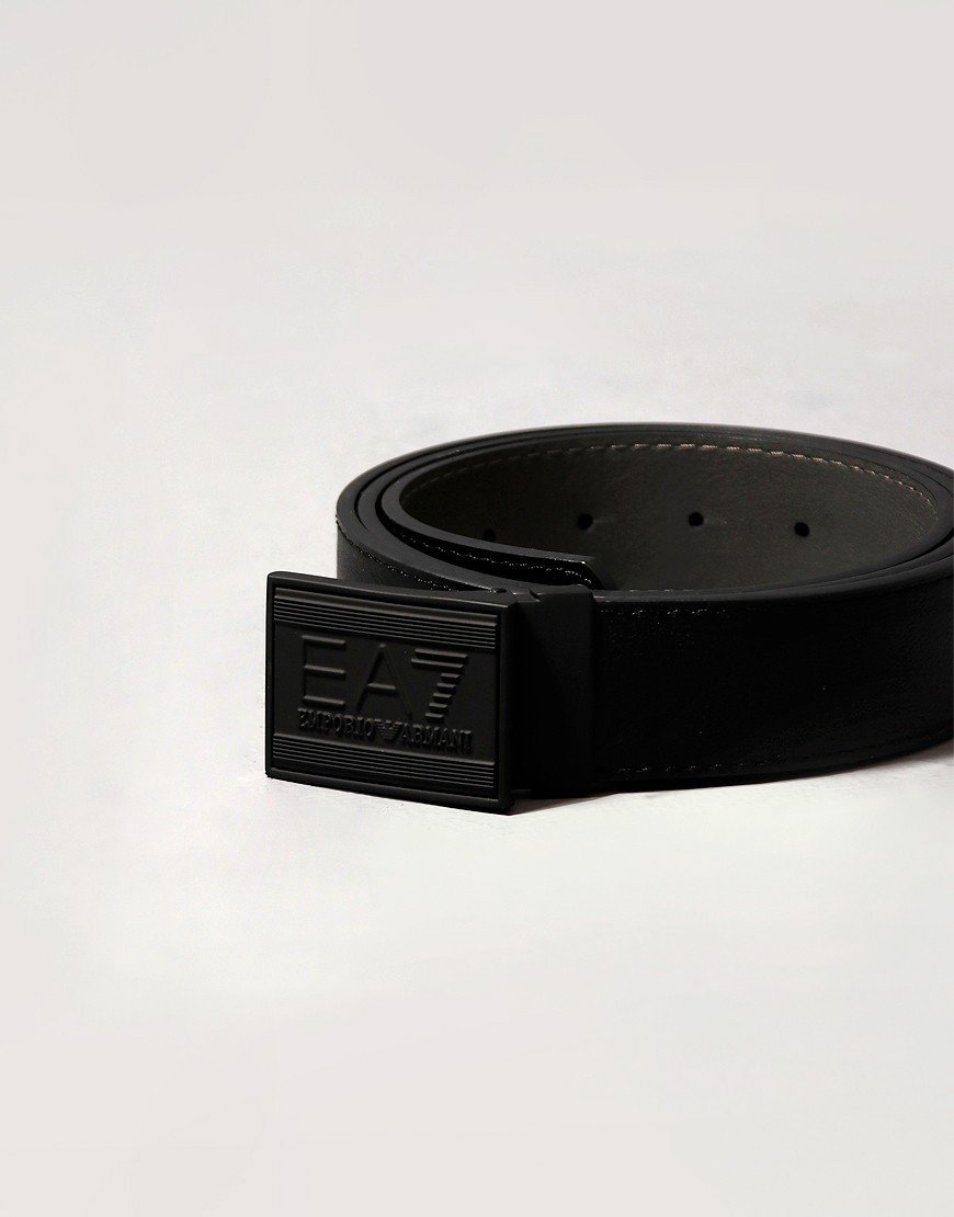 EA7 Emporio Armani Core ID Logo Reversible Belt Black/Urban Grey
