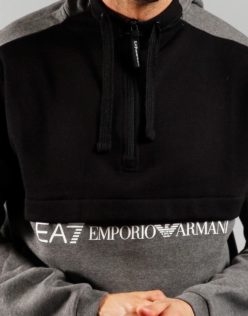 EA7 Hoodie Dark Grey Melange