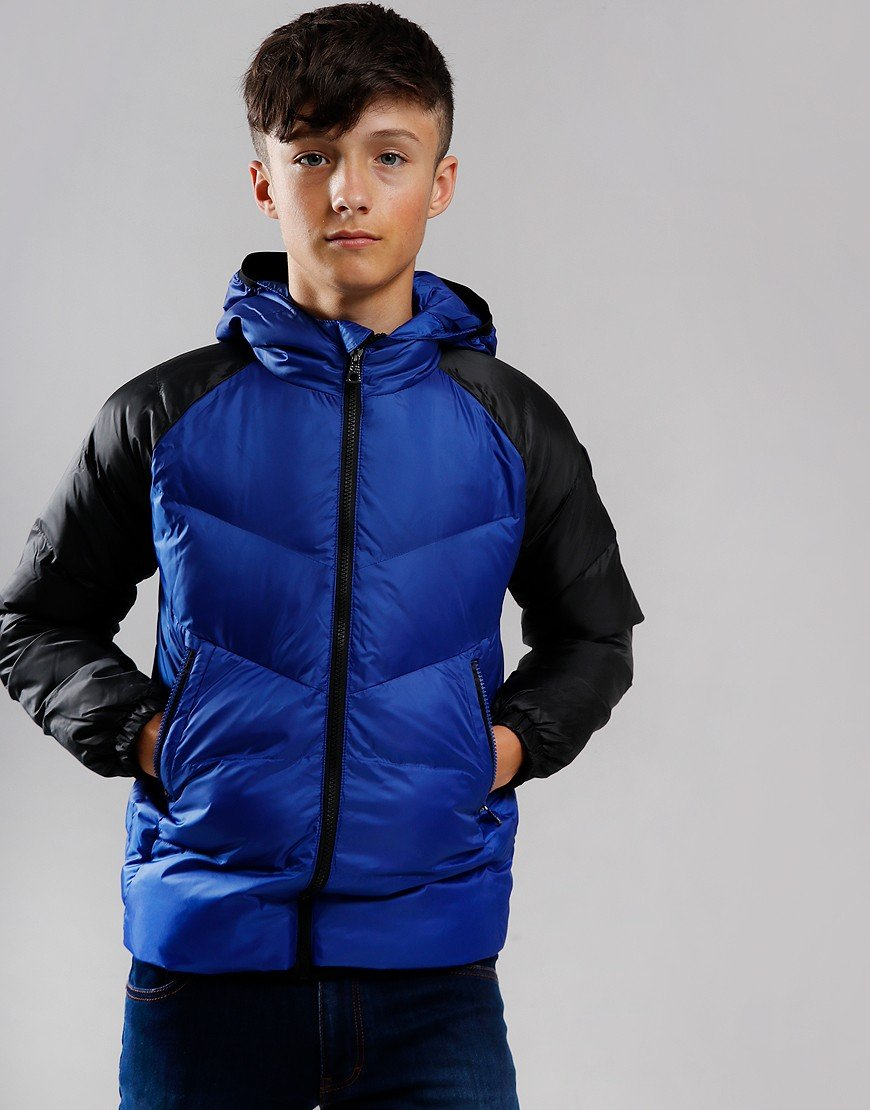 EA7 Kids Padded Bomber Jacket Mazarine Blue