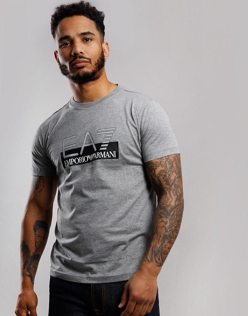 EA7 Large Logo T-Shirt Medium Grey Melange