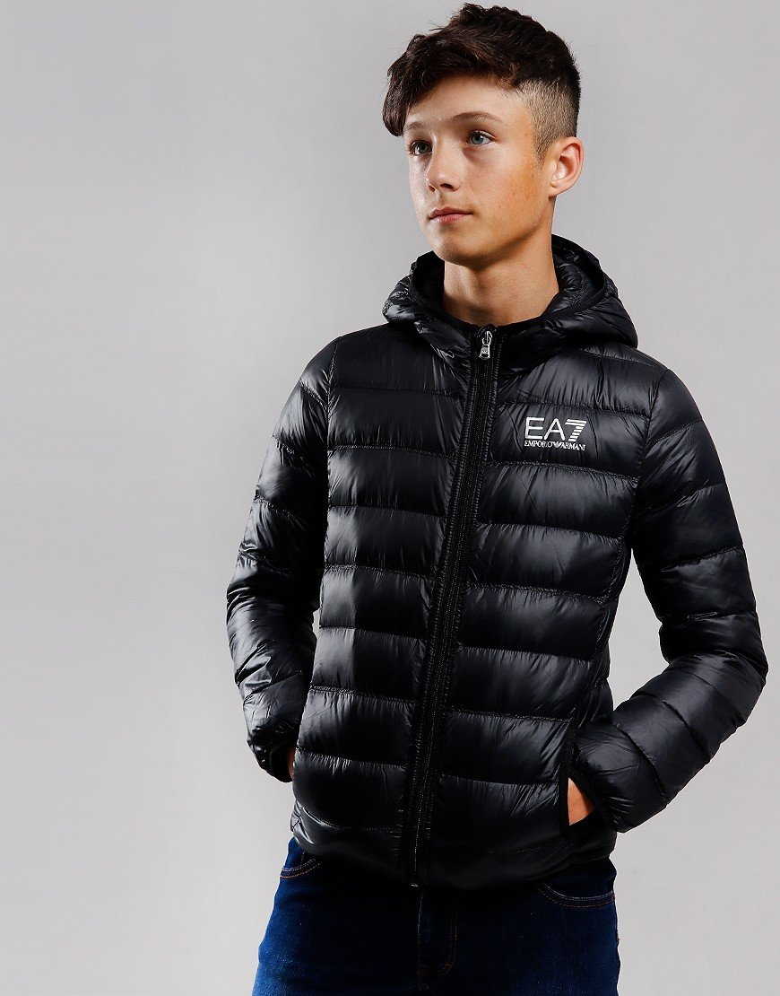 EA7 Kids Down Padded Jacket Black