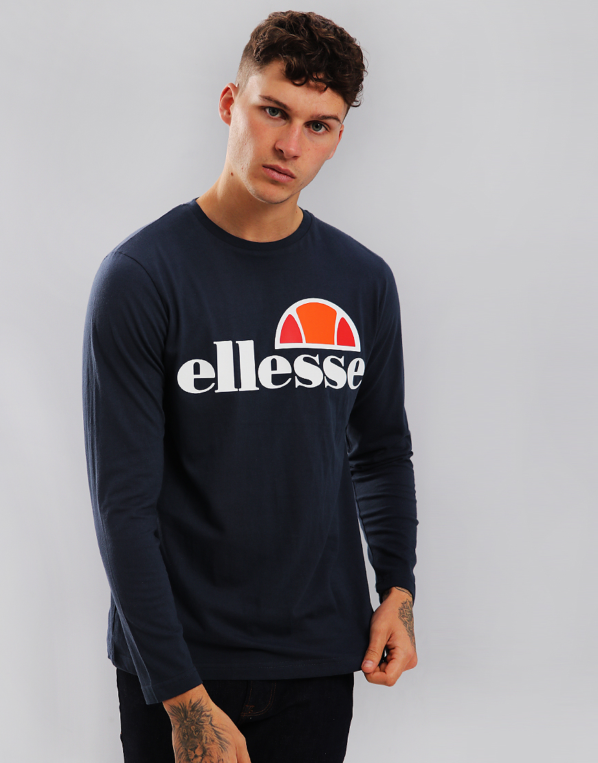 Ellesse Grazie Long Sleeve T-Shirt Dress Blues