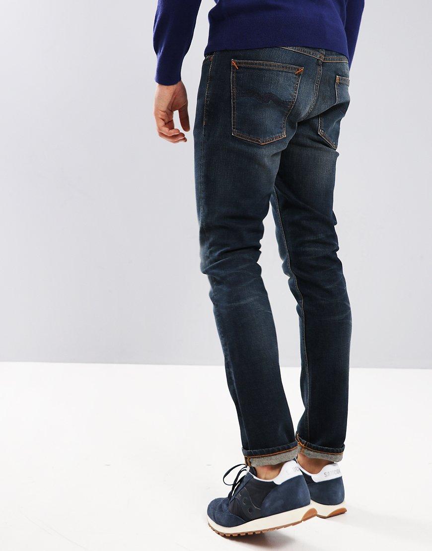 Nudie Grim Tim Slim Fit Jeans True Dusk