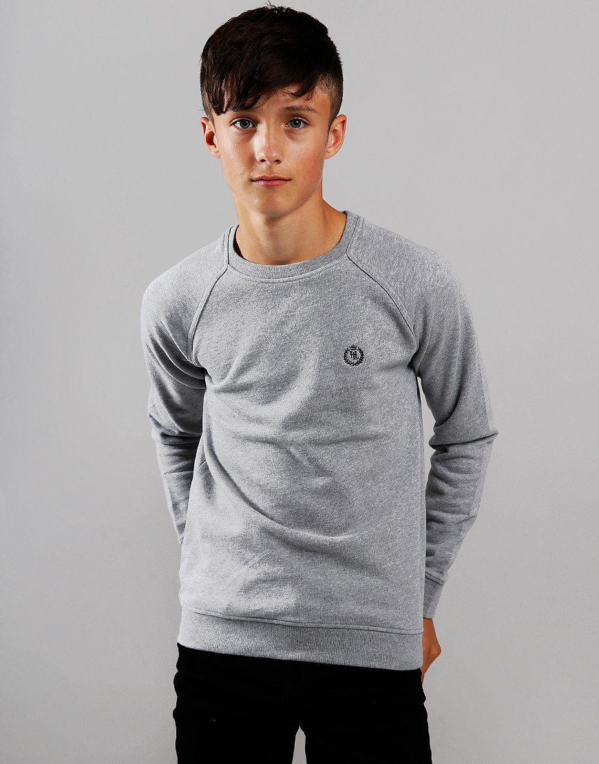 Henri Lloyd Junior Barford Crew Neck Sweat Vintage Grey Heather